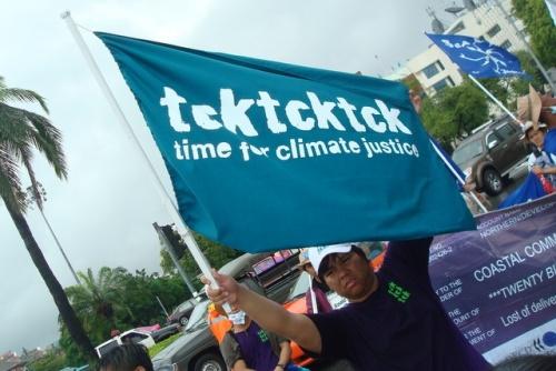 Demo für Klimagerechtigkeit auf den Straßen Bangkoks